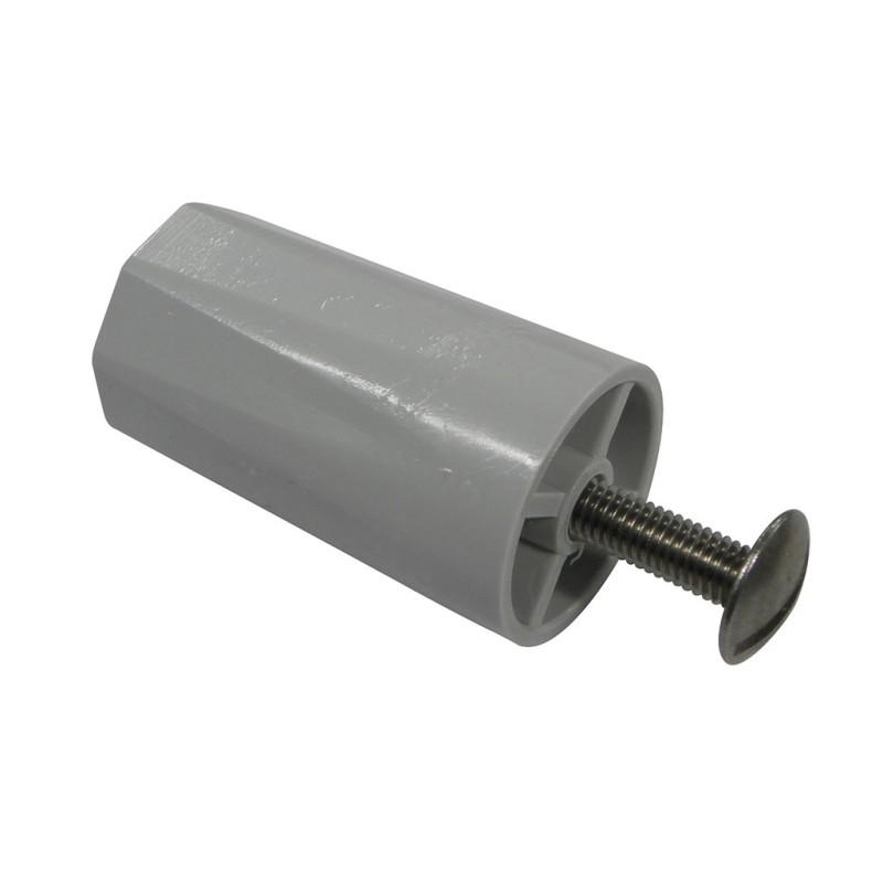 Butée de volet roulant rainurée 40 mm grise