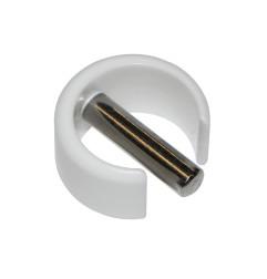 Clips de fixation rapide blanc pour manivelle Ø 15 mm