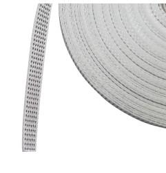 Rouleau de 50 mètres de sangle 14 mm gris et blanc