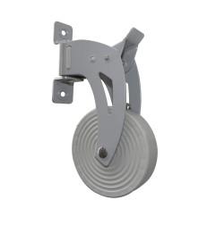 Enrouleur orientable gris sans carter laqué gris