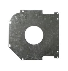 Plaque de guidage 45° de 150 mm avec trou 72 mm