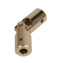 Genouillère acier Ø 16 mm : Rond 10 mm / Hexagonal 7 mm