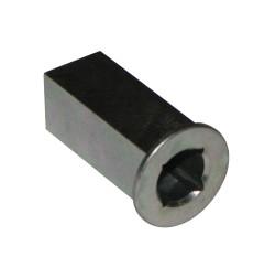 Tourillon et réduction trou carré 7 mm - carré 10 mm
