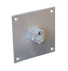 Plaque support 100x100 mm pour carré de 13 mm