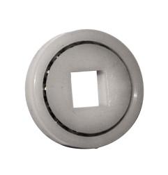 Roulement à billes Ø28 mm - trou carré 8 mm