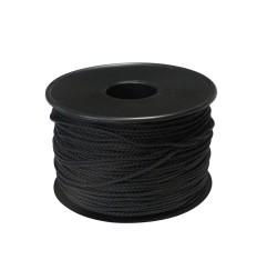 Cordon polyester Ø 1,5 mm noir (100 mètres)