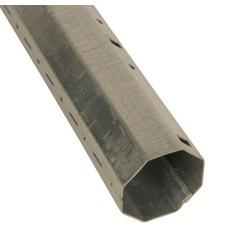 Tube acier galvanisé octogonal 40 mm (1 mètre)