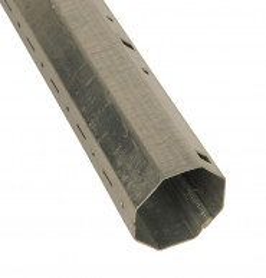 Tube acier galvanisé octogonal 40 mm (2 mètres)