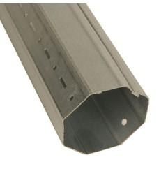 Tube acier galvanisé octogonal 60 mm (1 mètre)