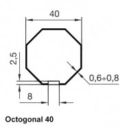 Kit octogonal 40 mm