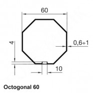 Kit octogonal 60 mm