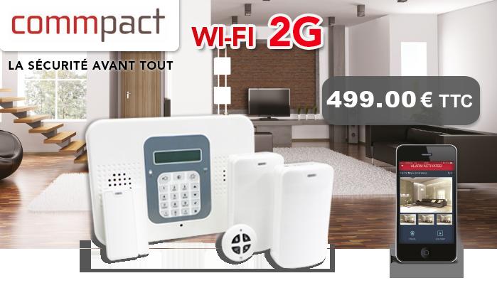 Pack alarme sécurité SECUPLACE WIFI 2G