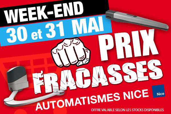 Promotion Week end du 30 et 31 mai 2015