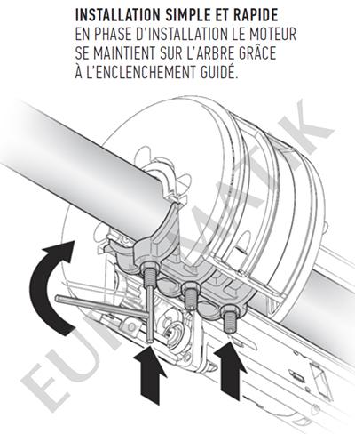 Moteur central Nice GIRO GR170 pour rideau métallique