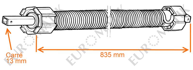 Ressort de compensation pour axe octogonal de 60 mm - Mecanisme store enrouleur ...