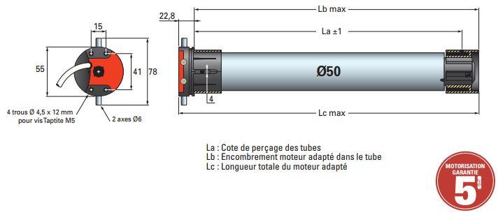 Dimensions moteur SIMU T5