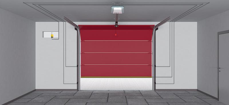 motorisation tau pour porte de garage basculante ou sectionnelle ebay. Black Bedroom Furniture Sets. Home Design Ideas